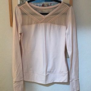 Pale pink Lululemon workout top